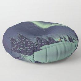 Winter Painting Floor Pillow