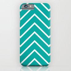 Aqua Chevron iPhone 6s Slim Case