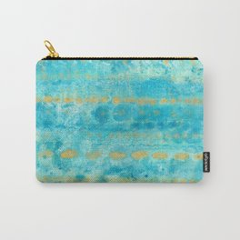 Gold in Deep Turquoise watercolor art Carry-All Pouch