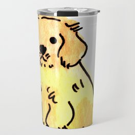 Butters - Puppy Watercolour Travel Mug