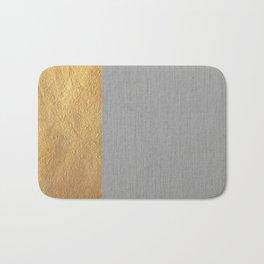 Color Blocked Gold & Grey Bath Mat