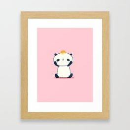 Sad Panda with Pan de Sal Framed Art Print