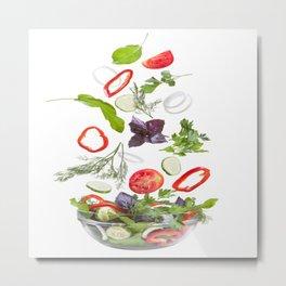 greek salad food vegetables Metal Print