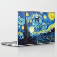 starry night Laptop & iPad Skins featuring STARRY by MiliarderBrown