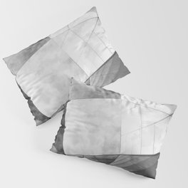 Black and White Cubism Pillow Sham