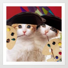 cateou twins Art Print