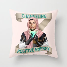 Cleric: Channeling Positive Energy Throw Pillow