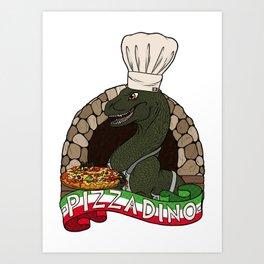 Pizza Dino Art Print