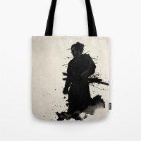 samurai Tote Bags featuring Samurai by Nicklas Gustafsson