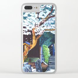 Under the Cherry Blossoms, Spring Clear iPhone Case