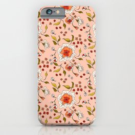 Floral Rose in Peach 0031 iPhone Case
