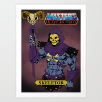 skeletor Art Prints featuring Skeletor by W. Keith Patrick