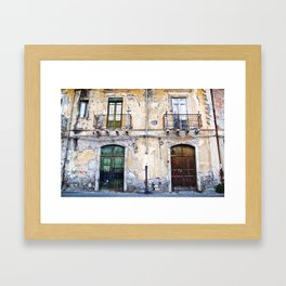 Antique Facade of Sicily Framed Art Print