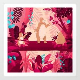 Dancing with the bears Art Print