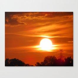 Sailor's Delight-Orange & Black Art-Sunset-Orange Sky Canvas Print