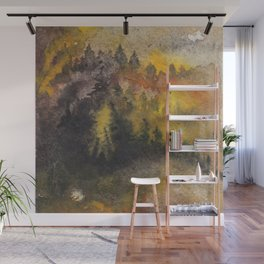Forest fire Wall Mural