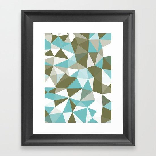 Seaweed Tris Framed Art Print