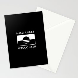 Milwaukee Wisconsin - Black - People's Flag of Milwaukee Stationery Cards