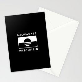 Milwaukee Wisconsin - Black - People's Flag of Milwaukee Stationery Cards