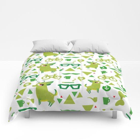 Hipsdeer (green) Comforters