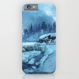 Blue Land iPhone Case