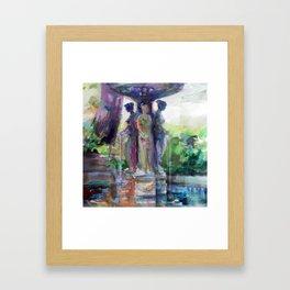 Three Graces Fountain Framed Art Print