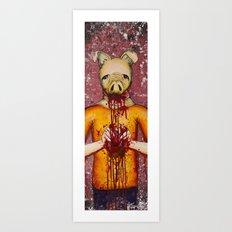 Heart Eater (Boy) Art Print