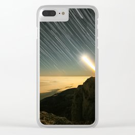 Moon startrail Clear iPhone Case