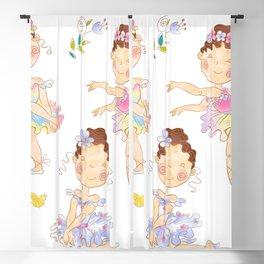 cute ballerinas Blackout Curtain