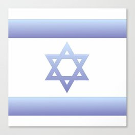 flag of Israel - with color gradient Canvas Print