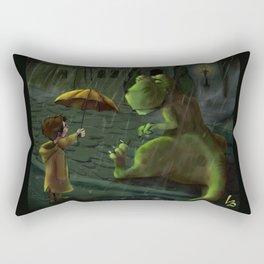 Friends In Rain Rectangular Pillow