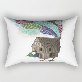 birdhouse revisited Rectangular Pillow