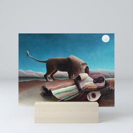 Henri Rousseau The Sleeping Gypsy Mini Art Print