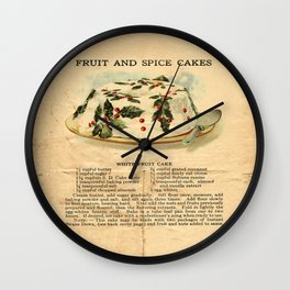 Fruit Cakes - Vintage Wall Clock