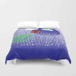 Poppy and rivers Duvet Cover
