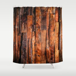 Beautifully Aged Wood Texture Shower Curtain