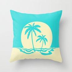 Calm Palm Throw Pillow