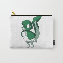 Pine Green/Color-Or-Paint-Your-Own Reptilian Bird #ArtofGaneneK #Animal Carry-All Pouch