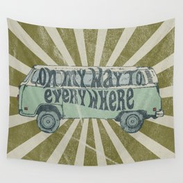 On My Way To Everywhere Wall Tapestry