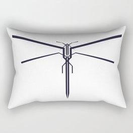 DRAGONFLY B/W Rectangular Pillow