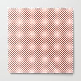 Tangerine Tango Polka Dots Metal Print