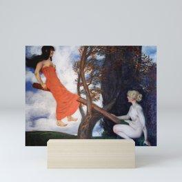 The seesaw by Franz Stuck Mini Art Print