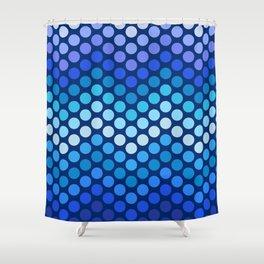 Dot Chevron: Blue violet Shower Curtain
