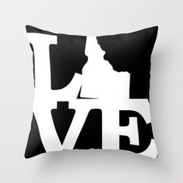 Idaho Pride USA State Love Map Throw Pillow