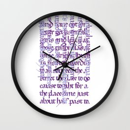 Calligraphy Gothic Wall Clock