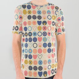Valentine Love All Over Graphic Tee