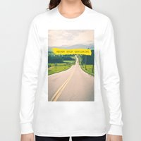never stop exploring Long Sleeve T-shirts featuring Never stop exploring by Ale Ibanez