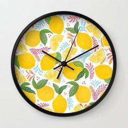 Lemon Lemonade Lovers // Fresh Fruits // Juicy Fruit Wall Clock