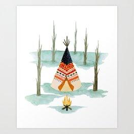 Wigwam Art Print