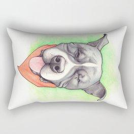 Pitbull - Love is blind - Stevie the wonder dog Rectangular Pillow